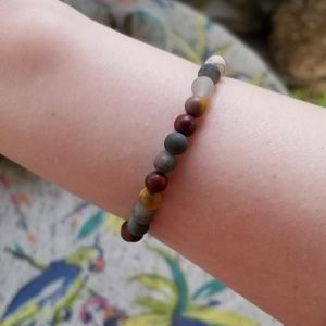 Jewelry - HAND MADE MOOKAITE AND BLOODSTONE BRACELET